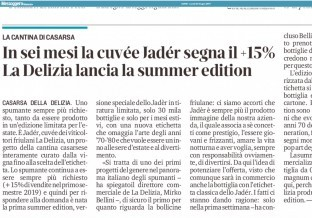 MESSAGGERO VENETO: NASCE LA JADÉR SUMMER EDITION